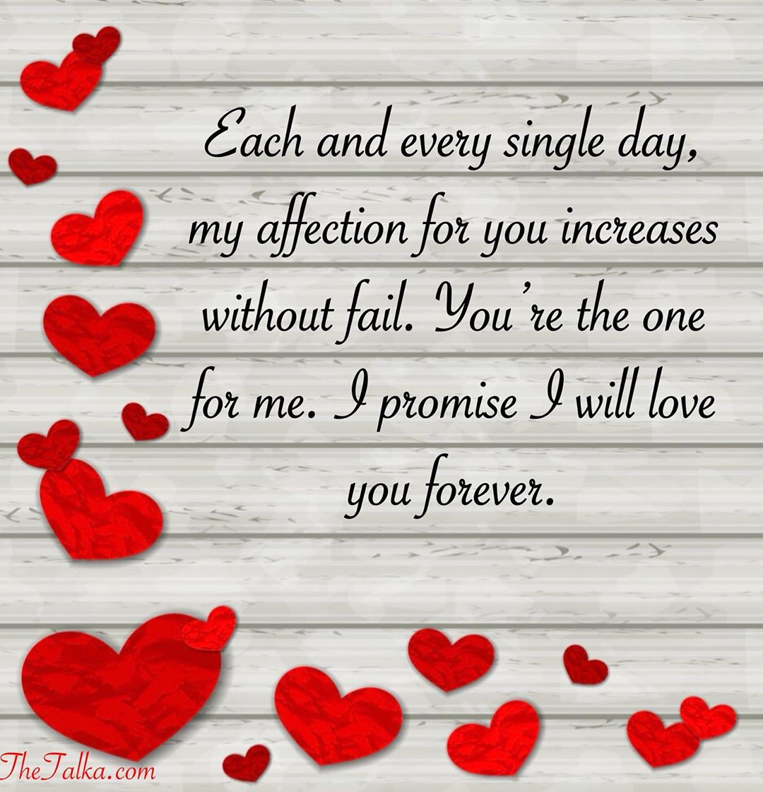 I Promise To Love You Forever Messages