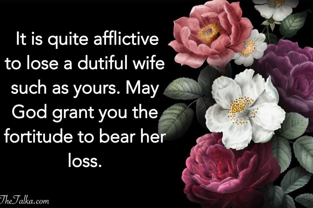 Sympathy Messages For Loss Of Wife