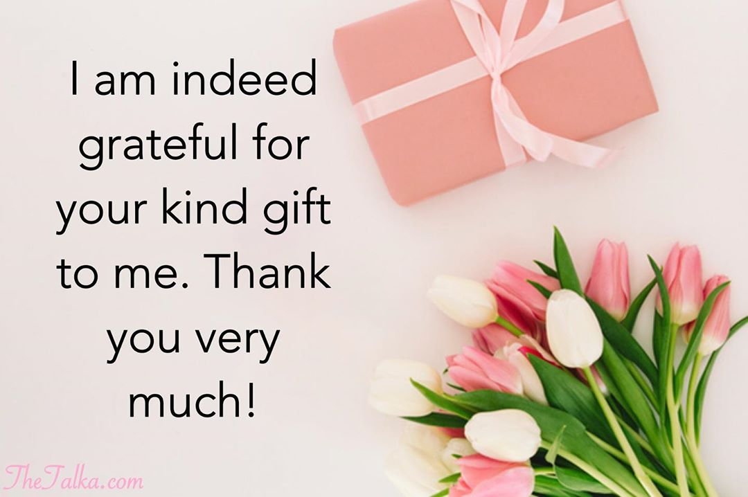 Thank You For The Gift Messages