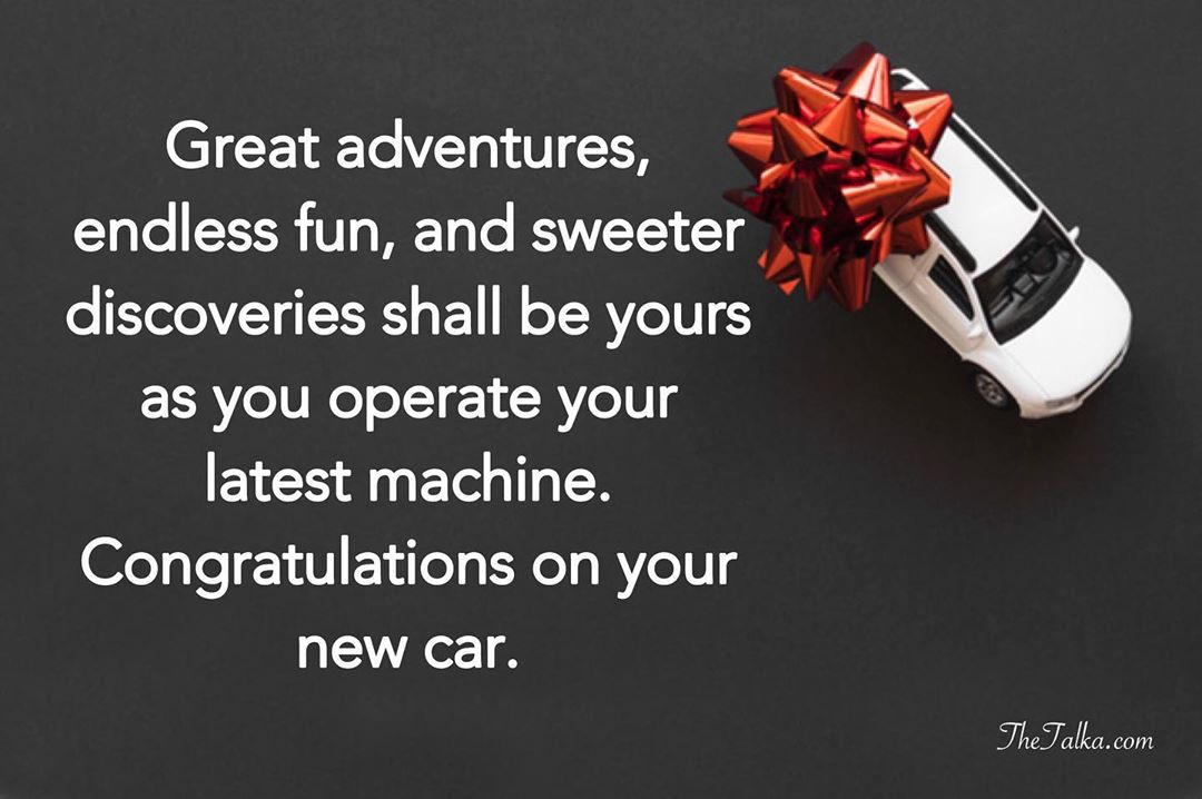 Congratulations Wishes and Messages For New Car