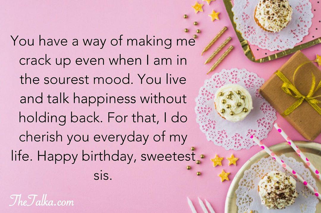 Heartfelt Birthday Wishes For Sister