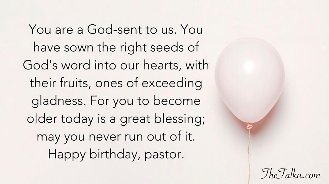 Inspirational Birthday Wishes For Pastor