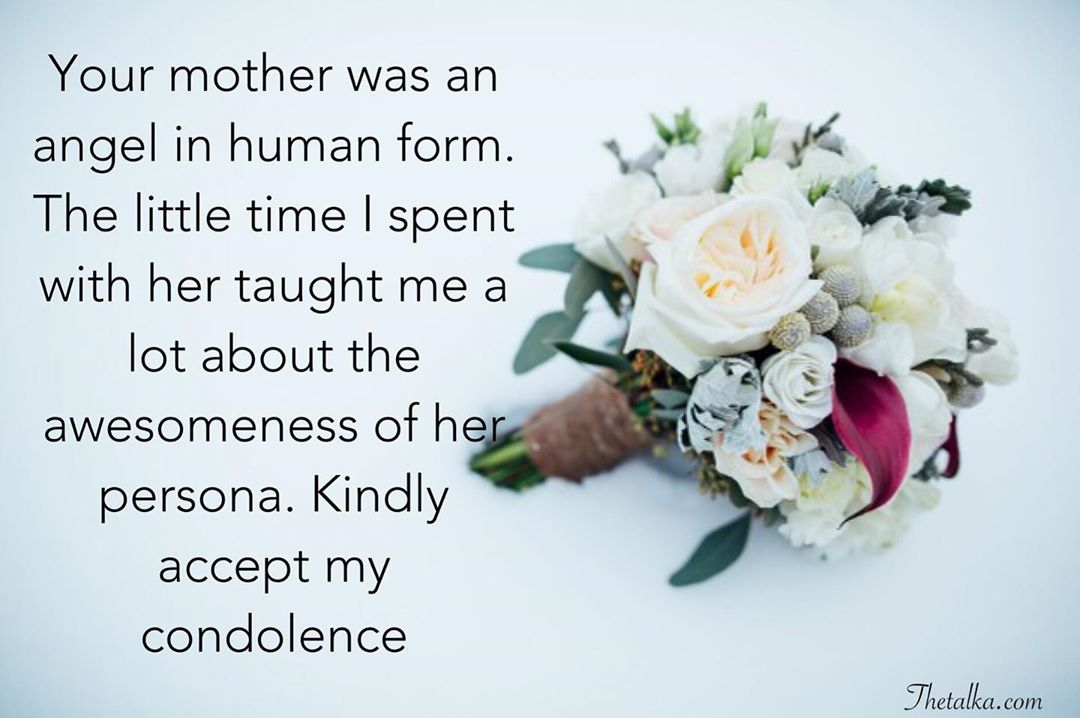 Short Condolence Messages On Death Of Mother