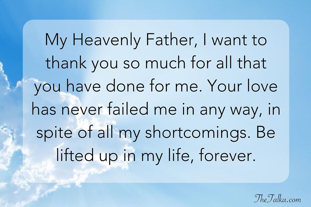 Thank You God Messages For Everything