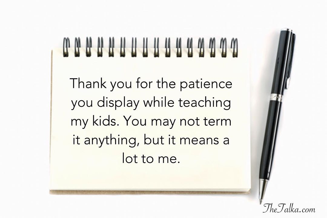 Thank You Messages For Teacher From Parents