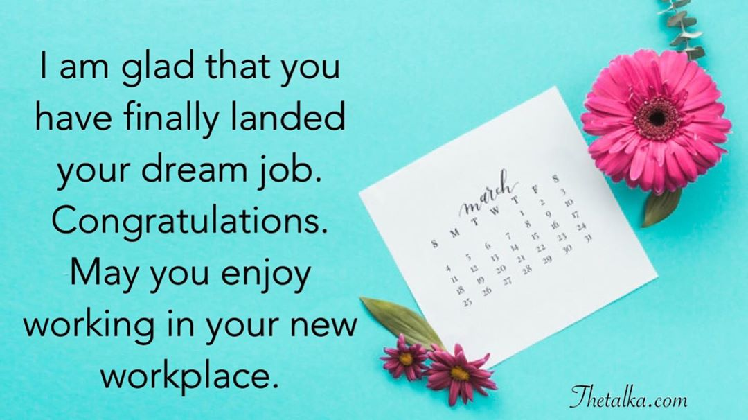 Congratulations On Your New Job Wishes