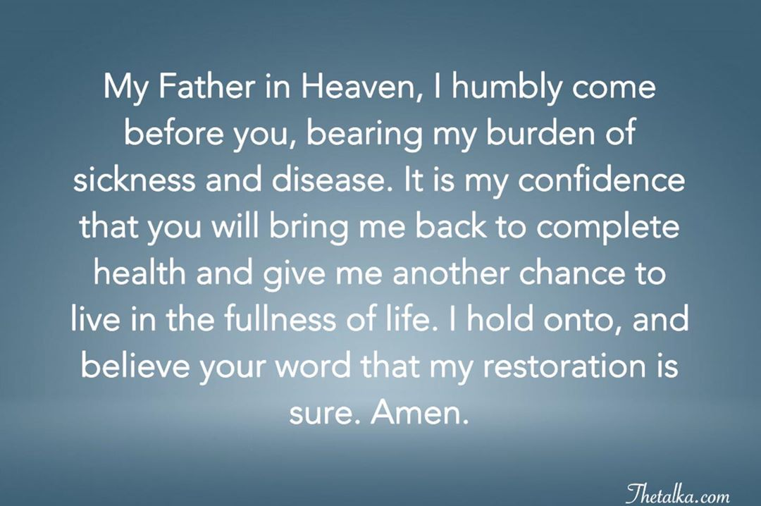Powerful Prayers For Healing With Bible Verses