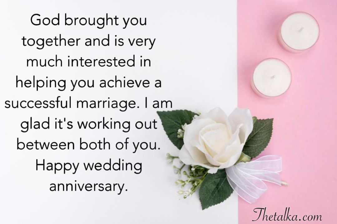 Christian Wedding Anniversary Wishes