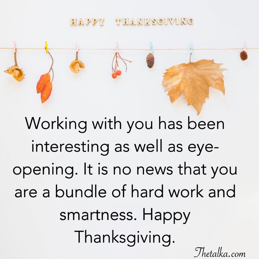 Happy Thanksgiving Messages For Colleagues