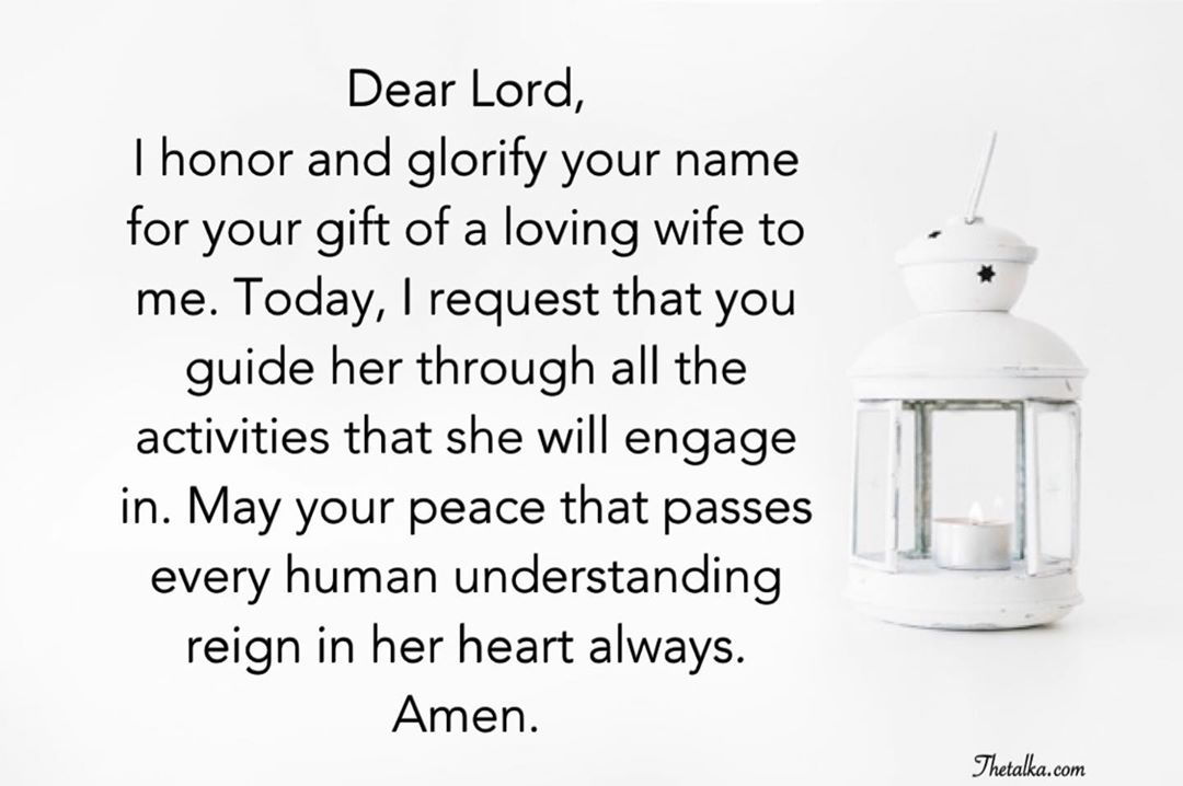 Powerful Prayers For Wife