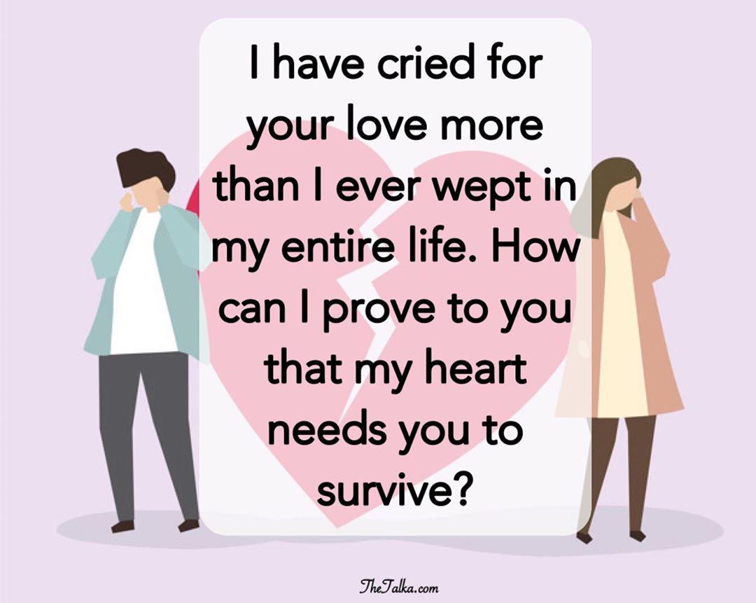 Love sad messages romantic 61 Sweetest