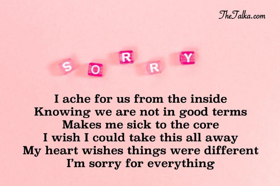 For sorry short im her poems 7+ Short