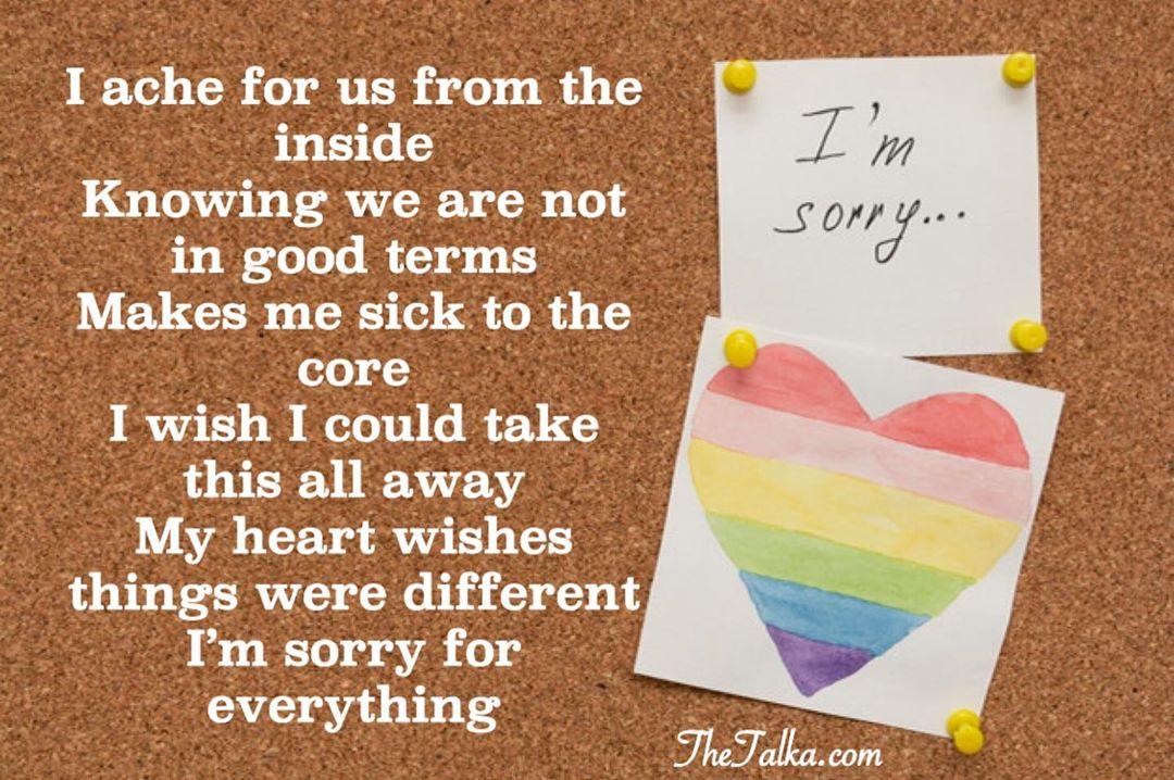 I'm Sorry' Poems
