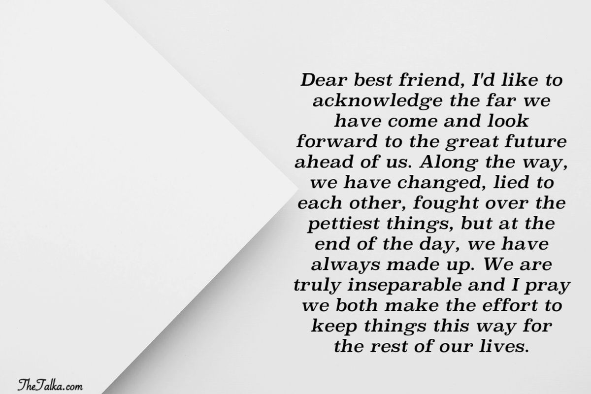 Emotional Letter To My Best Friend