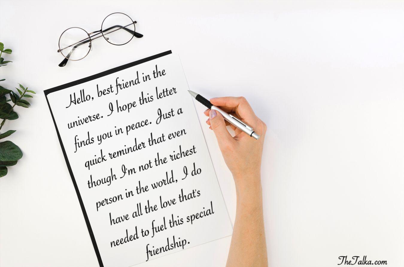 Friendship Letter To Best Friend